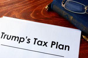"A paper document titled ""Trump's Tax Plan."""
