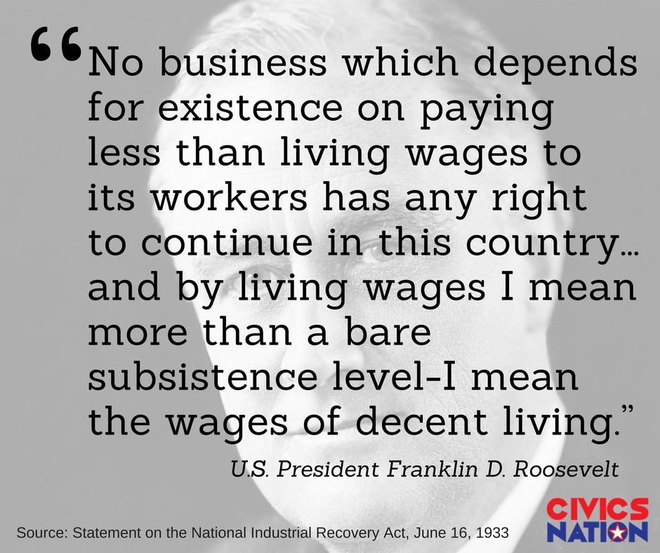 The minimum wage was designed to be a living wage. But now, working-class people receive welfare benefits because they don't make a living wage.