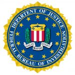 The emblem for the FBI.