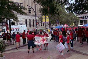 Most of the teachers across the nation who protested budget cuts that hurt their students--and themselves--got support from their states' teachers' unions.