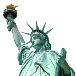 The Statue of Liberty was a gift from the French.