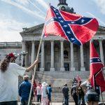 Confederate activists at a flag-raising event in South Carolina