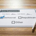 A voter registration card.