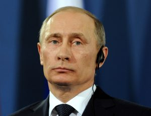 A photo of Russian President Vladimir Putin.