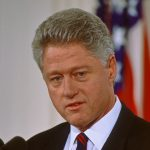 Former president Bill Clinton was impeached but later acquitted by the Senate.