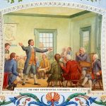 The First Continental Congress, detail from a painting by Architect of the Capitol
