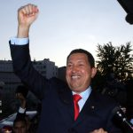 A photo of Hugo Chávez.
