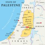 A map of Israel and Palestine.