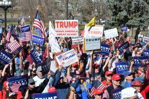 A Trump rally.