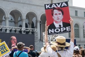 Protesters take to the streets to protest President Trump's Supreme Court nominee Brett Kavanaugh.