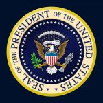 The seal of the President of the United States.
