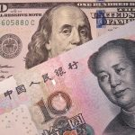 The U.S. dollar pictured alongside the Chinese yuan.