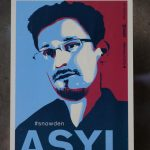 A poster demanding that Edward Snowden be granted asylum in Germany.