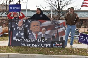 November, 29, 2017: Donald Trump's supporters gather for the president's tax reform speech at the St. Charles Convention Center in St. Charles, Missouri.