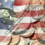 American money and the U.S. flag.