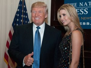 A photo of Donald Trump with his daughter, Ivanka Trump.