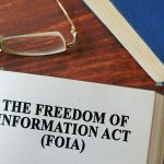 "A book page titled, ""The Freedom of Information Act (FOIA)."""